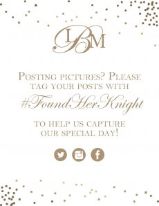 Wayne Martin Bauknight Jr and Lauren Greaves wedding hashtag 704-562-4790