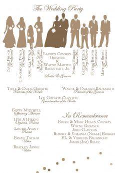 Wayne Martin Bauknight Jr and Lauren Greaves wedding program 704-562-4790